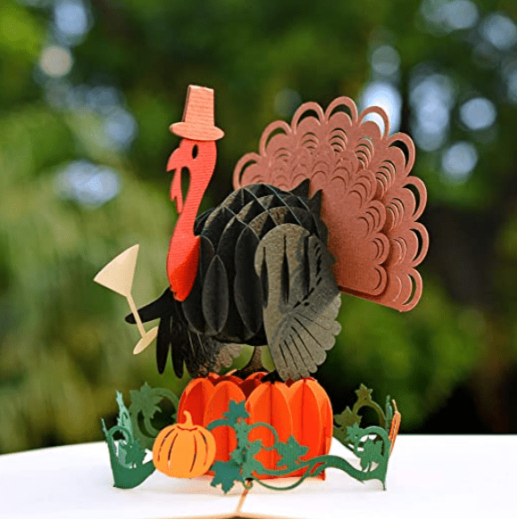 CUTPOPUP Halloween Card Pop Up, Thanksgiving Card Pop Up, Turkey Card, Fall Greeting Cards, Fall Thank You Cards, Thank You Greeting Cards – Ideal Gift On Halloween, Thanksgiving.
