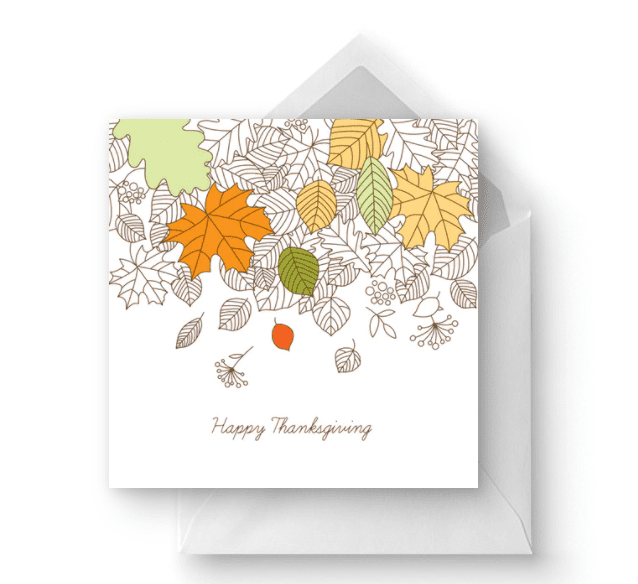 Missing You - Thanksgiving Card.