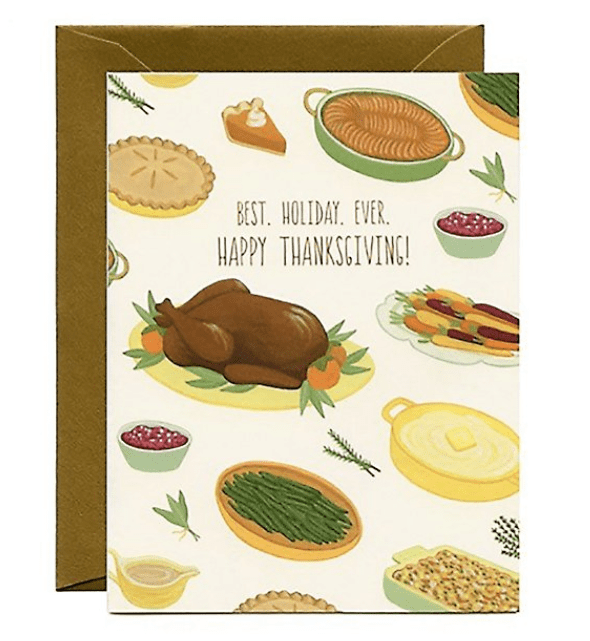 Thanksgiving Dinner Greeting Card.