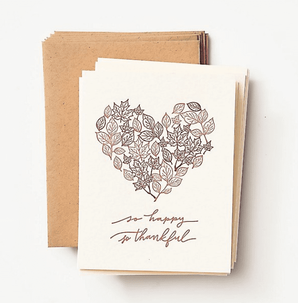So Happy So Thankful Letterpress Stationery Set.