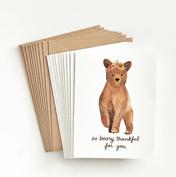 So Beary Thankful Thank You Card Set.