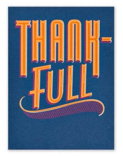 GOOD FOOD THANKSGIVING CARD.