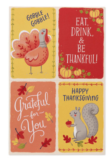 MINI THANKSGIVING CARDS, 24-COUNT.