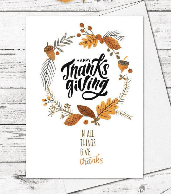 Thanksgiving cards.