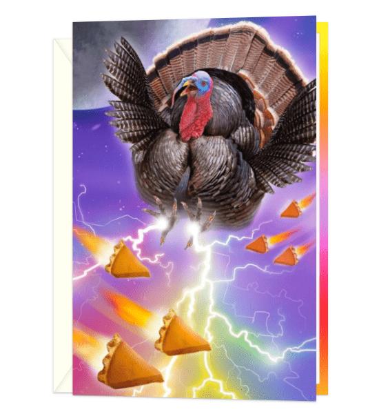 Turkey Has Spoken Thanksgiving Card.