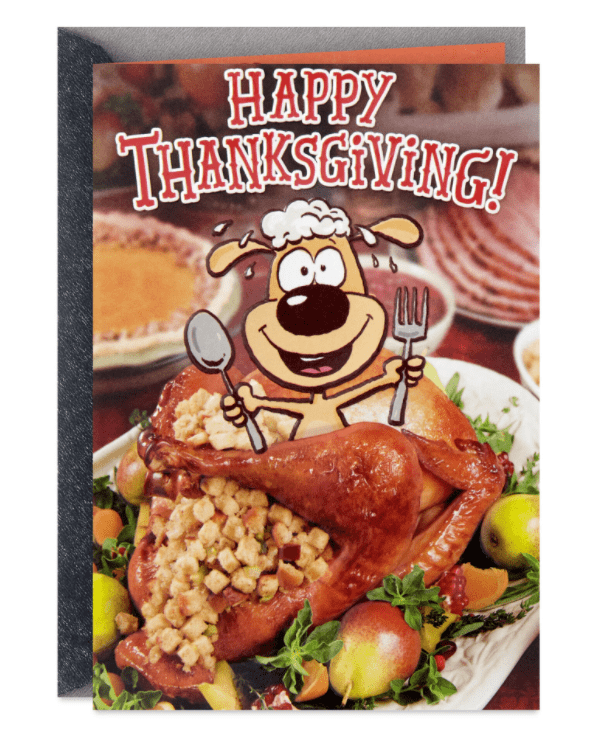 Stuffed With Love and Fun Funny Thanksgiving Card.