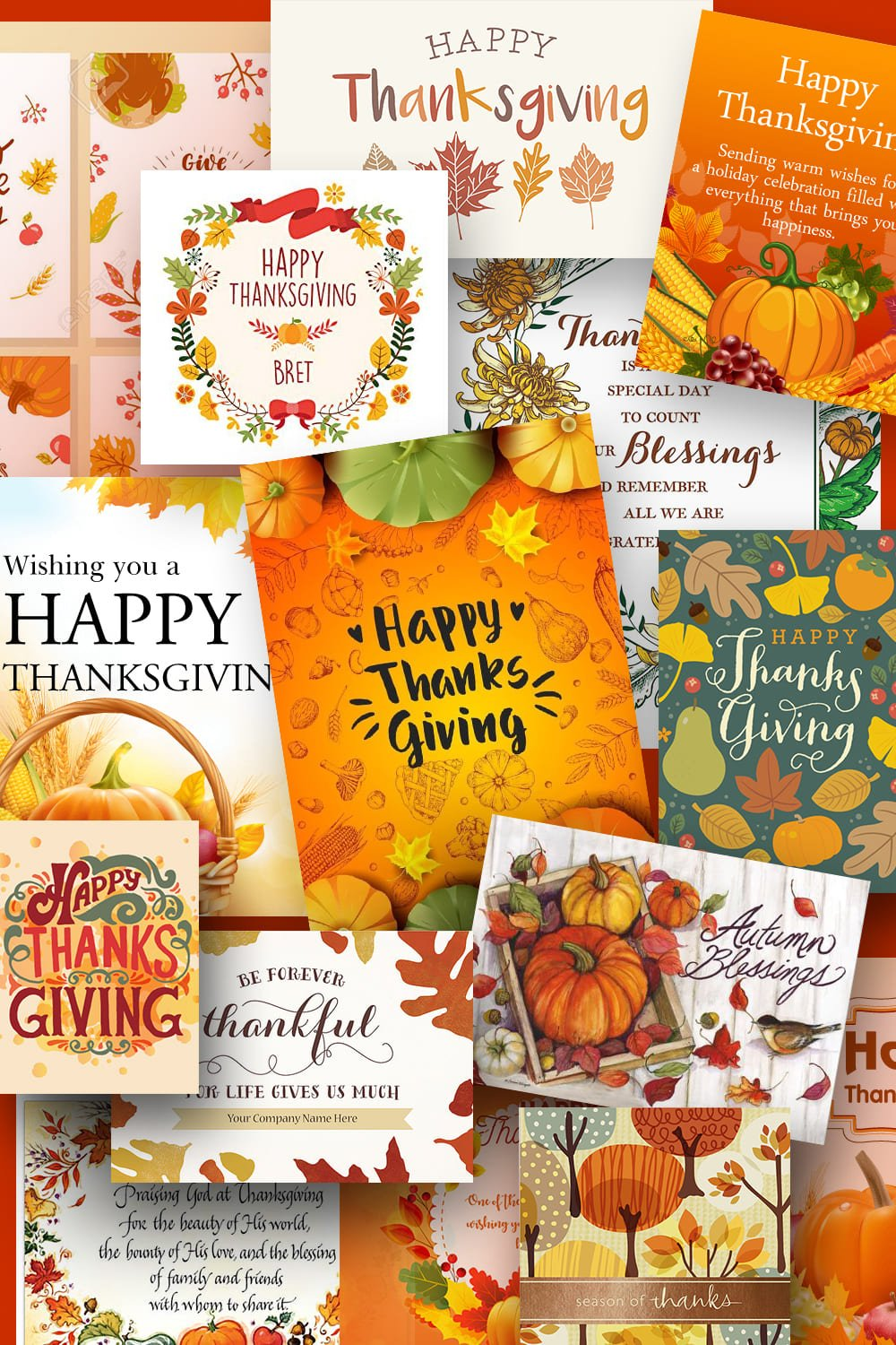 Thanksgiving Cards. Pinterest Image.