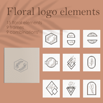 33 Floral Logo Design Elements