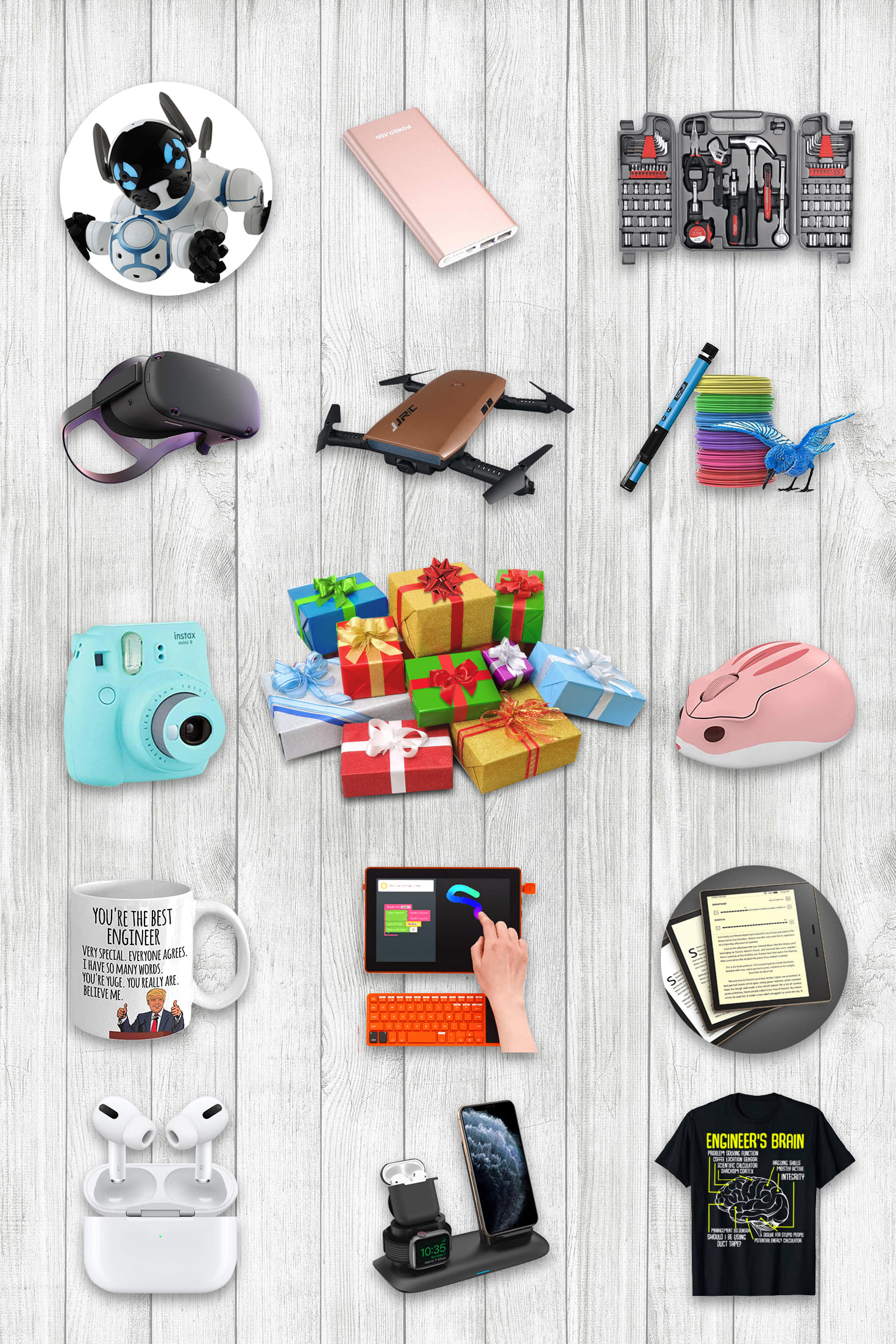 Examples Engineers Gifts.Pinterest Image.