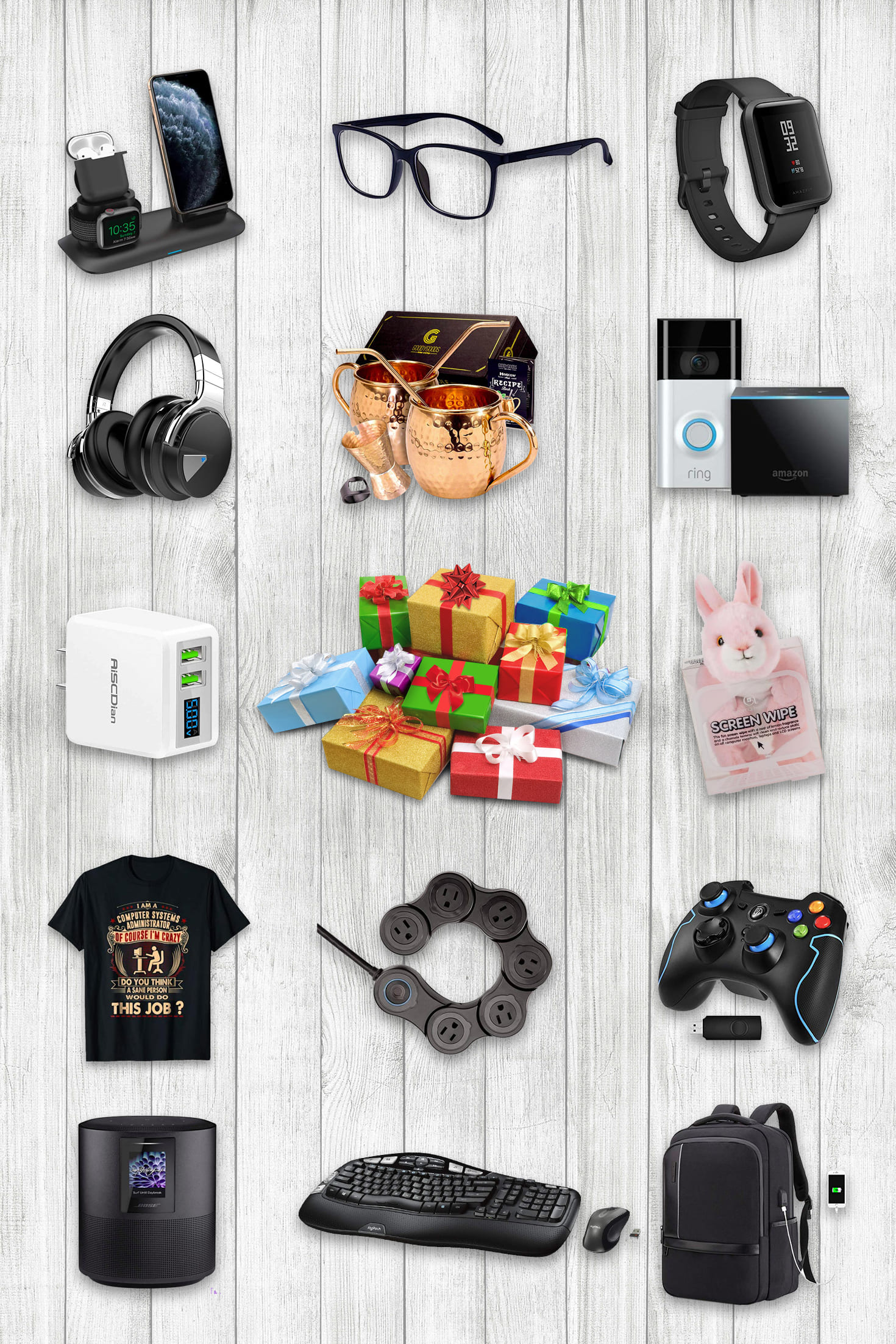 Examples Gifts for SysAdmin. Pinterest Image.