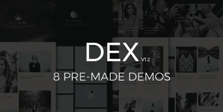 Dex - Modern Blog/Portfolio Blogger Theme.