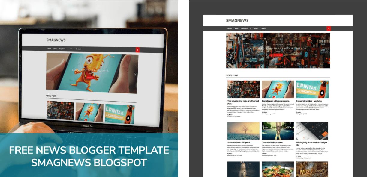 Free News Blogger Template SmagNews BlogSpot.