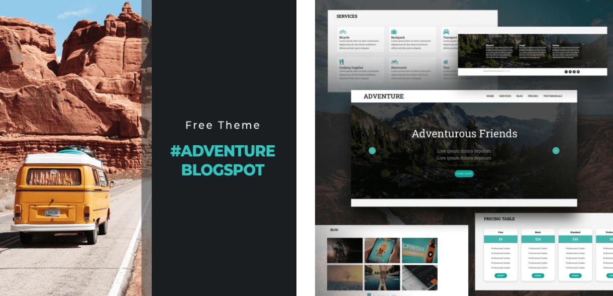 Simple Blogger Template: Free Travel BlogSpotTheme Adventure.