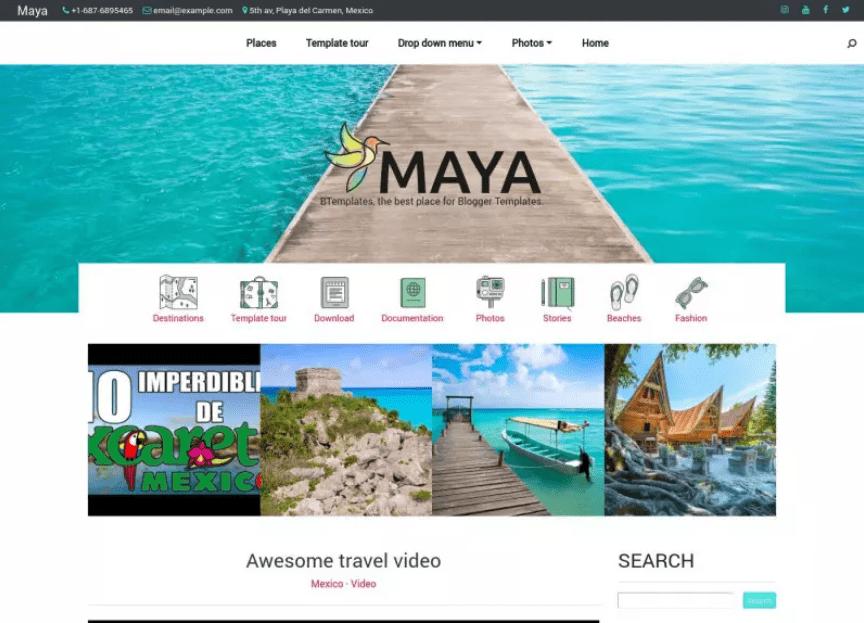 Maya Blogger Template.