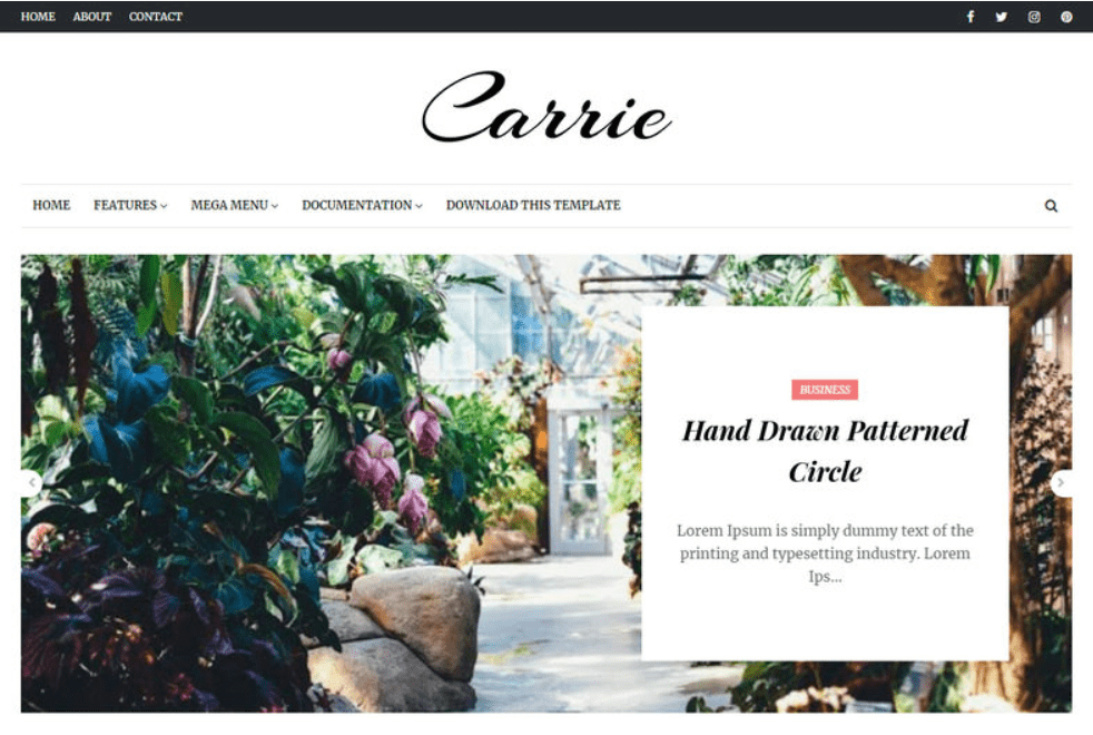 Carrie Blogger Template.