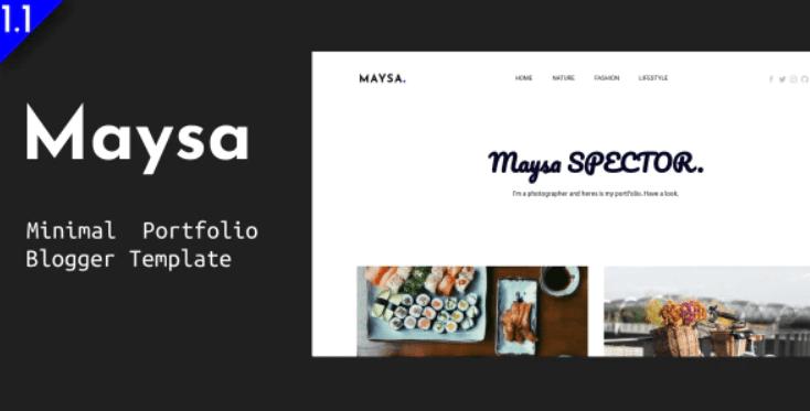 Maysa - Minimal Portfolio Blogger Template.