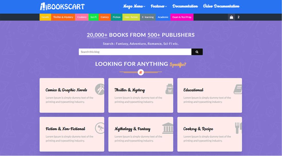 Books Cart Blogger Template.