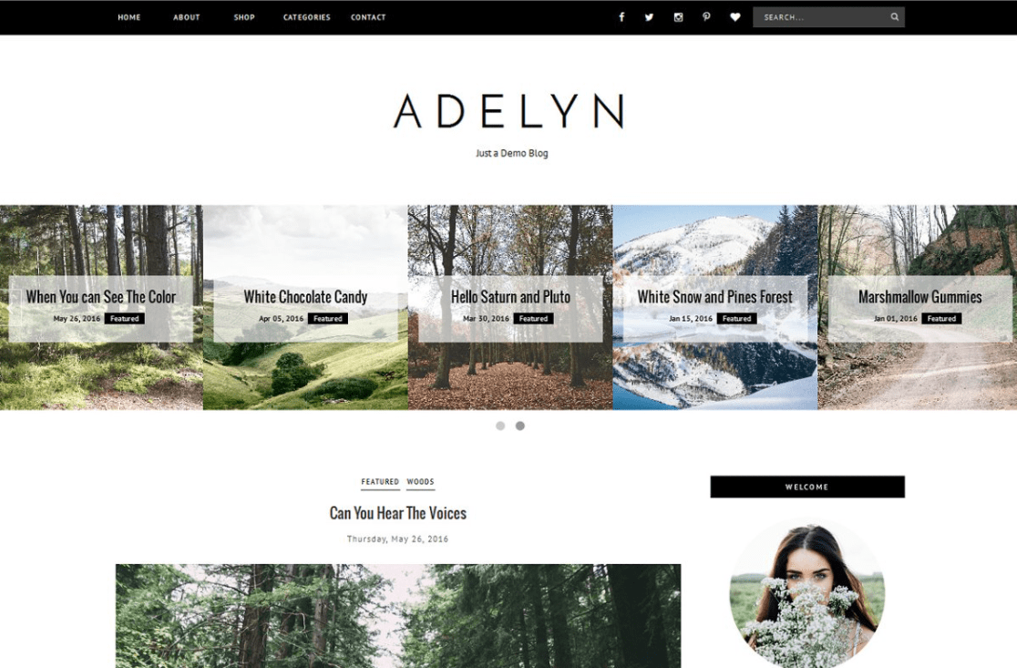 Blogger Template Responsive – ADELYN By Vefio Themes.