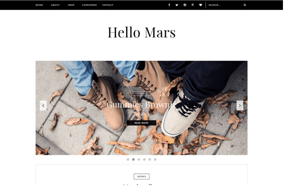 Blogger Template - Hello Mars By Vefio Themes.
