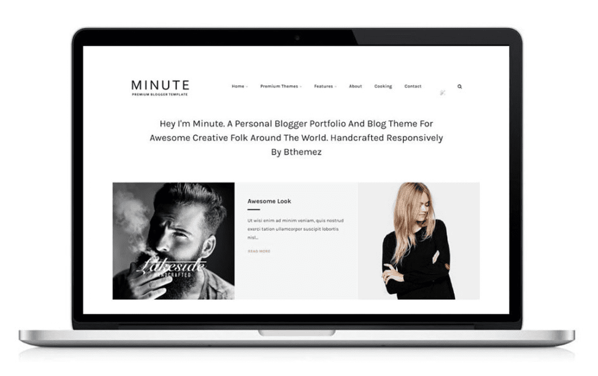 Minute Responsive Blogger Template By bthemez.