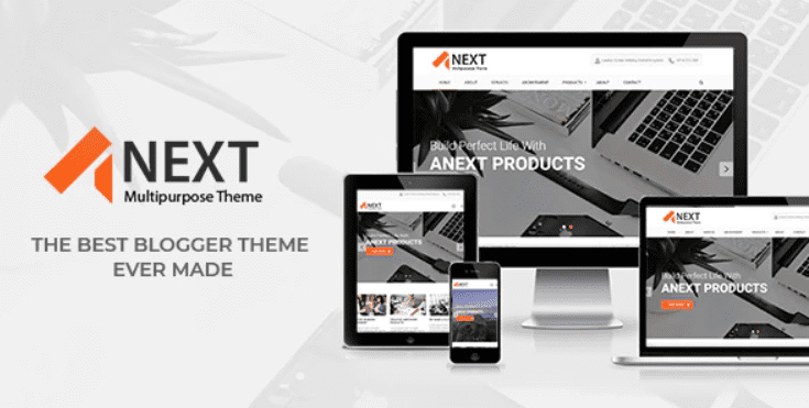Anext - Responsive Multipurpose Blogger Theme.