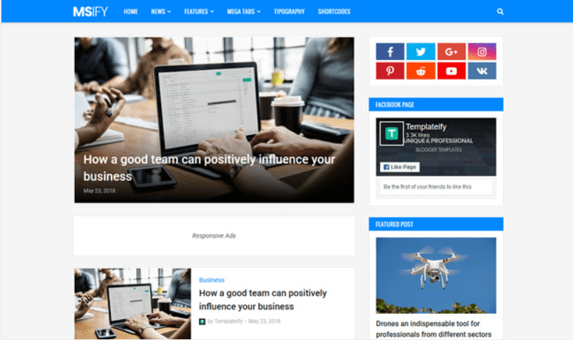 🔥 100+ Free and Premium Blogger Templates 2021 - blogspot template 67