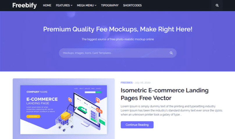 🔥 100+ Free and Premium Blogger Templates 2021 - blogspot template 68