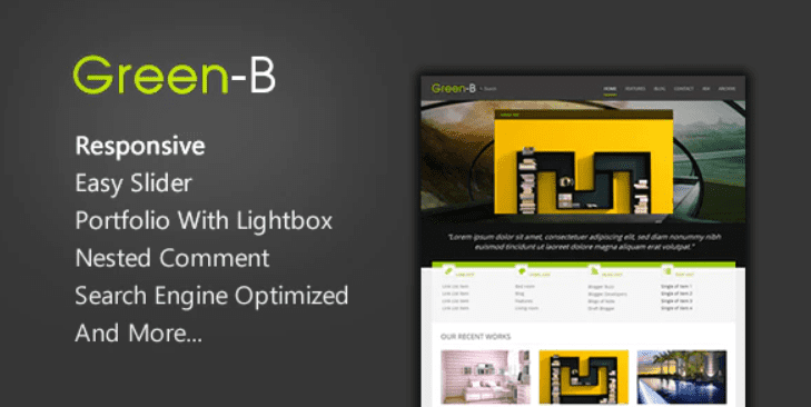 GreenB - Responsive Blogger Template.