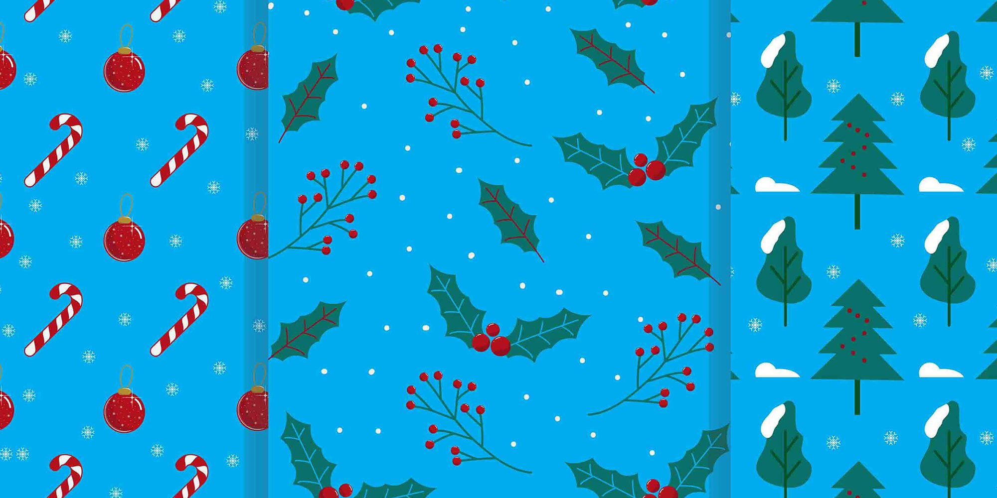 9 Christmas Patterns Vector Art .EPS - christmas pattern 1