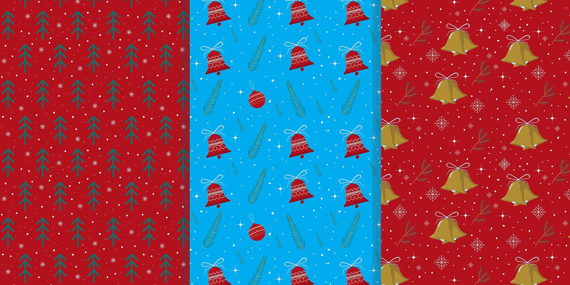 9 Christmas Patterns Vector Art .EPS - christmas pattern 2
