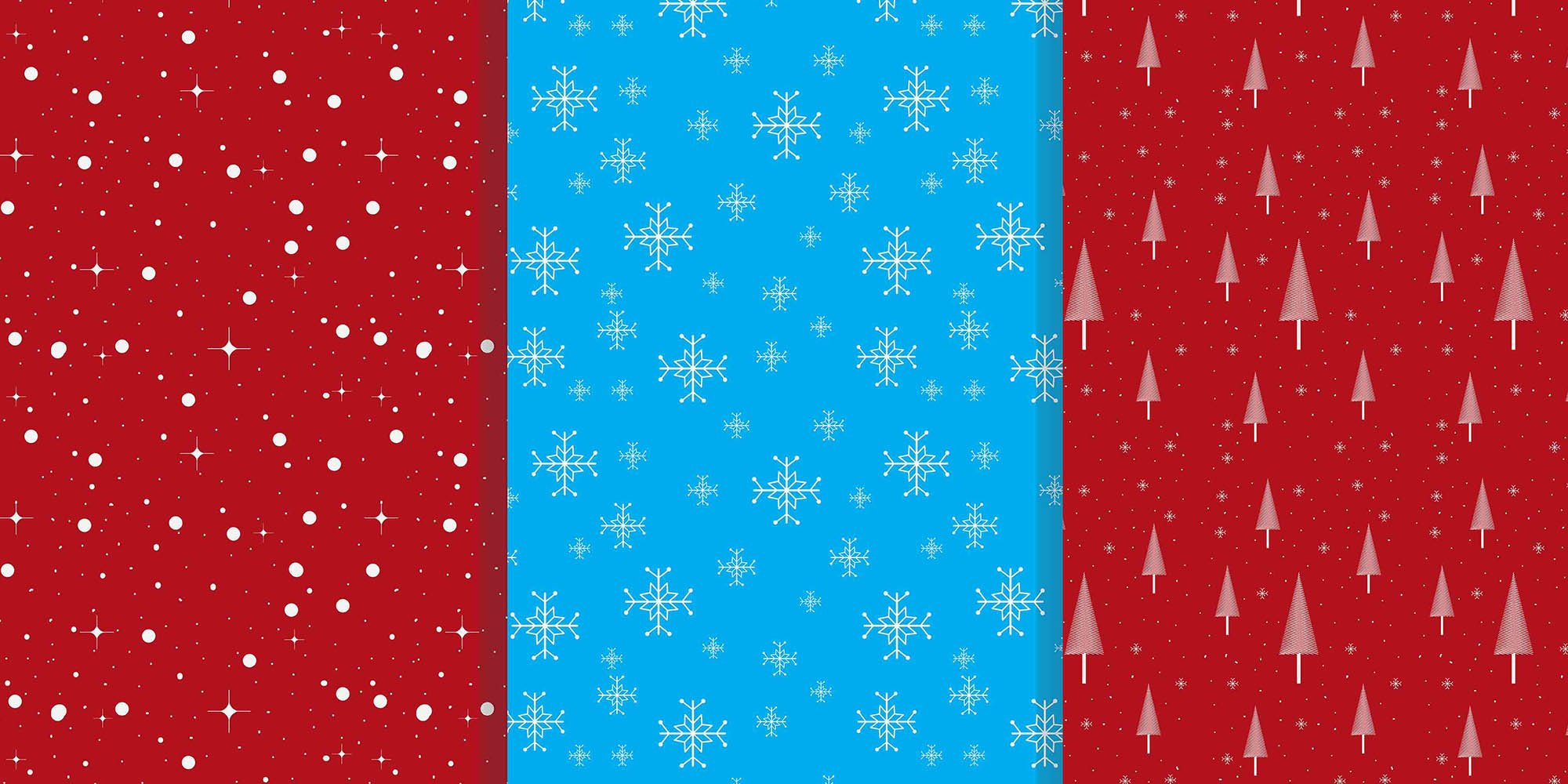 9 Christmas Patterns Vector Art .EPS - christmas pattern 3