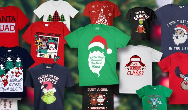 Examples Best Christmas Shirts. Funny Design.