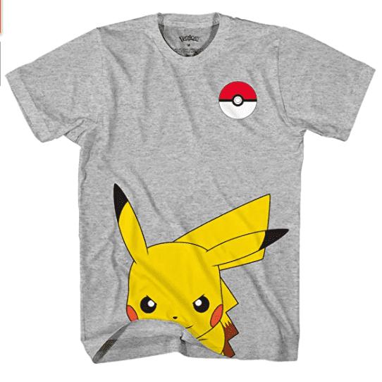 Pokemon Kids' Pokémon Boy's Cute Pikachu T-Shirt.