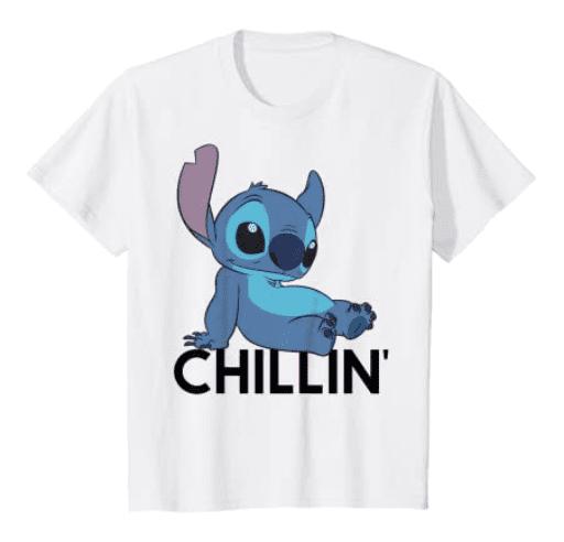 Disney Lilo and Stich Chillin T-shirt.