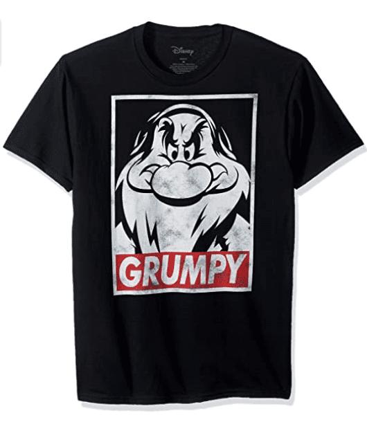 Disney Men's Snow White and Seven Dwarfs Grumpy Graphic T-Shirt.