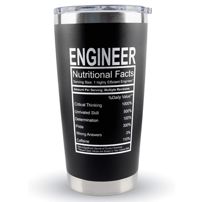 Engineer Gifts - Large Travel Coffee Tumbler Mug 20oz.