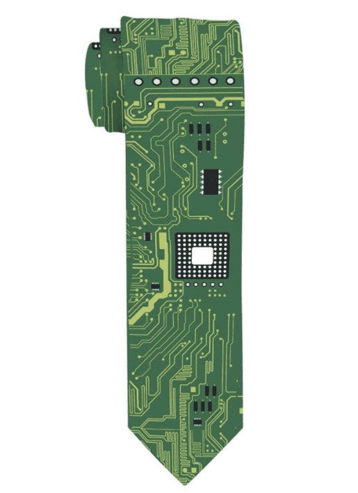 Computer Geek Gifts Computer Tie PCB Techie Gifts for Men Coding Gifts STEM Gifts Cool Tech Necktie.