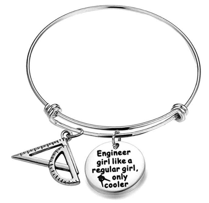 AKTAP Engineer Graduation Gift Architect Bracelet Engineer Girl Like a Regular Girl Only Cooler.