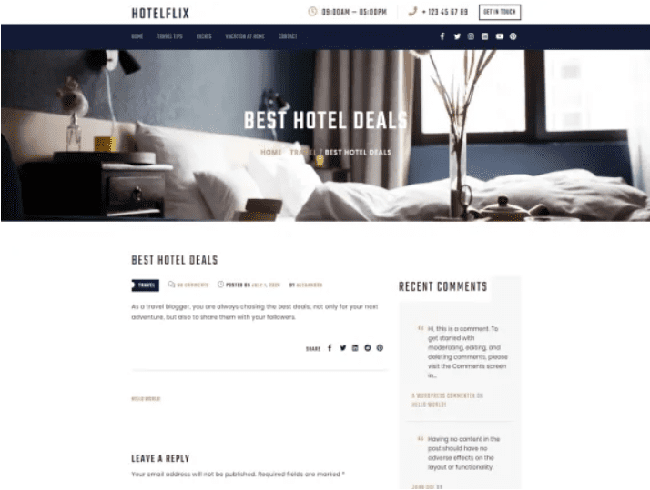 Hotelflix By Crunch themes