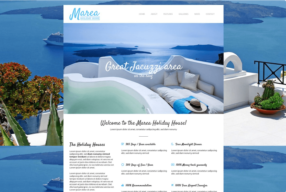 Marea - Holiday House WP Theme by 7Theme