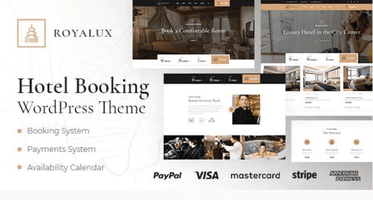 Royalux - Hotel Booking WordPress Theme