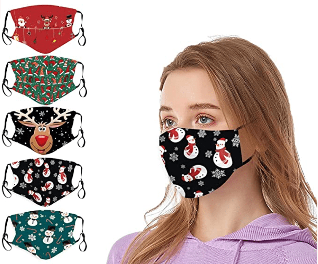 60+ Best Medical Face Masks With Designs in 2021 - top christmas face mask 06
