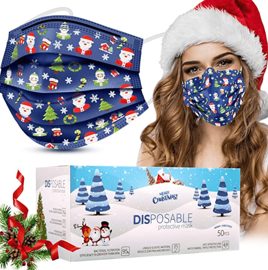 60+ Best Medical Face Masks With Designs in 2021 - top christmas face mask 09
