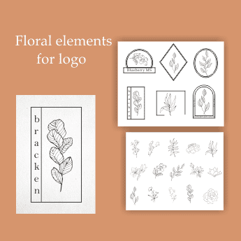 29 Floral Elements Vector: 15 Floral Elements, 8 Frames and 6 Combinations - 39