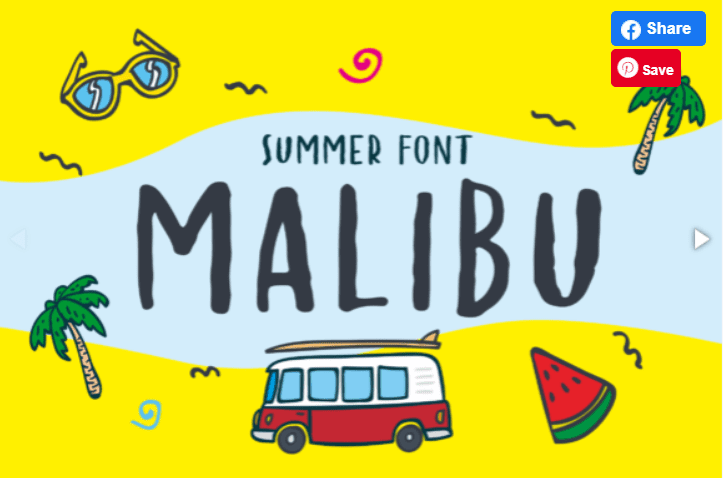 65+ Best Summer & Beach Fonts 2021: Free and Premium Fonts to Make Your Projects Exciting - best beachy font 18