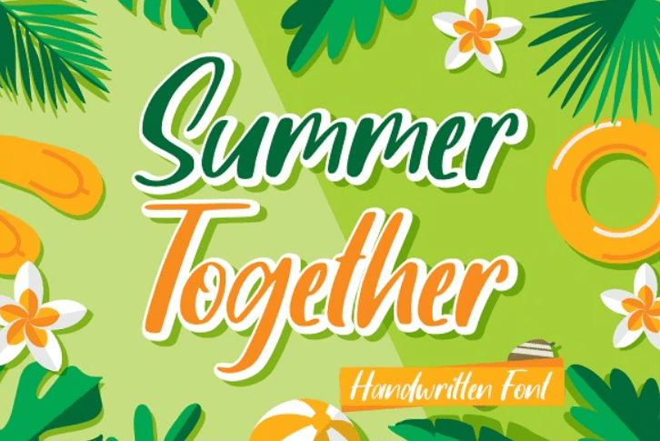 65+ Best Summer & Beach Fonts 2021: Free and Premium Fonts to Make Your Projects Exciting - best beachy font 28