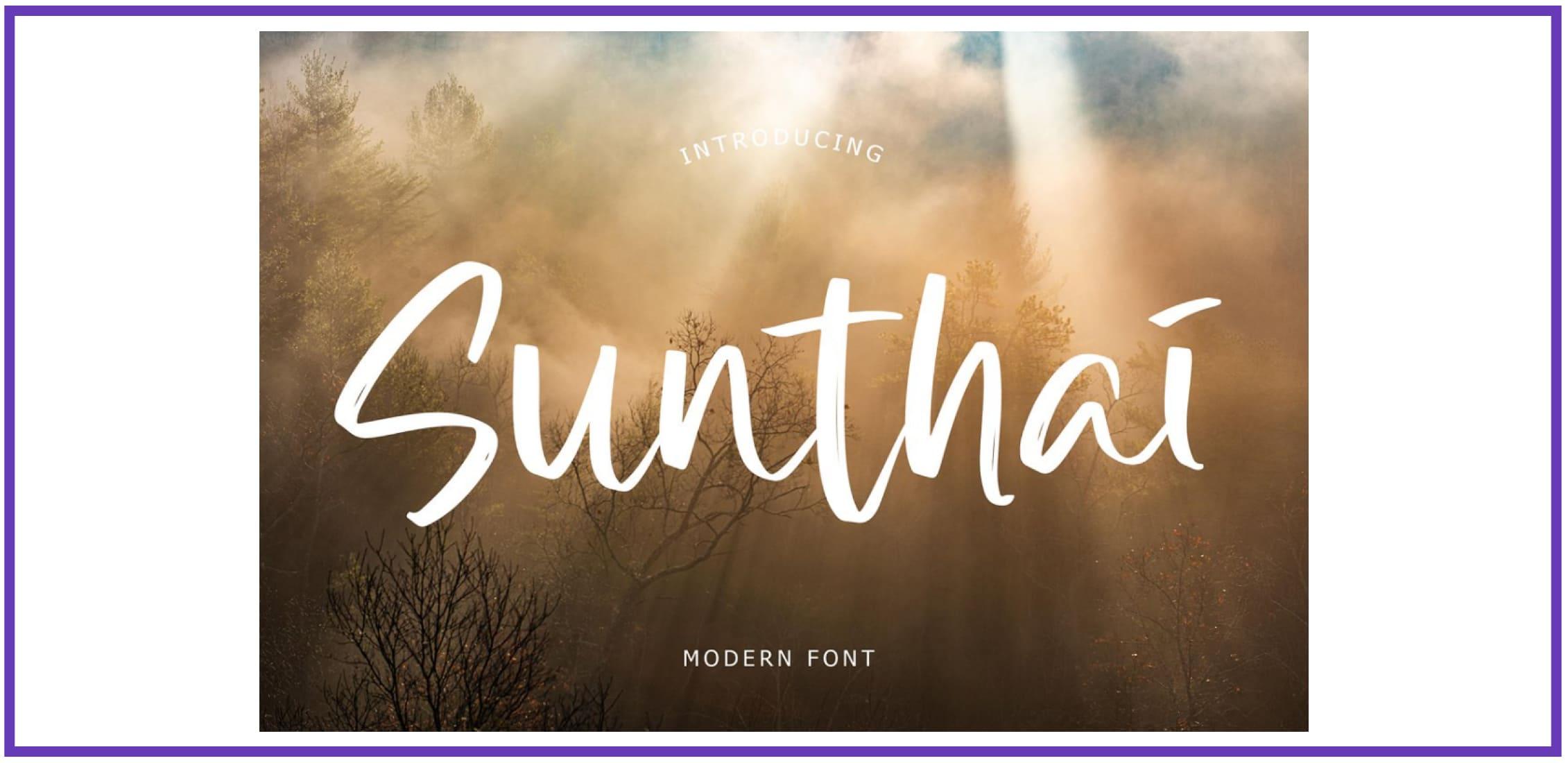 Sunthai Modern Font By Formatika Studio. Best Beachy Fonts.