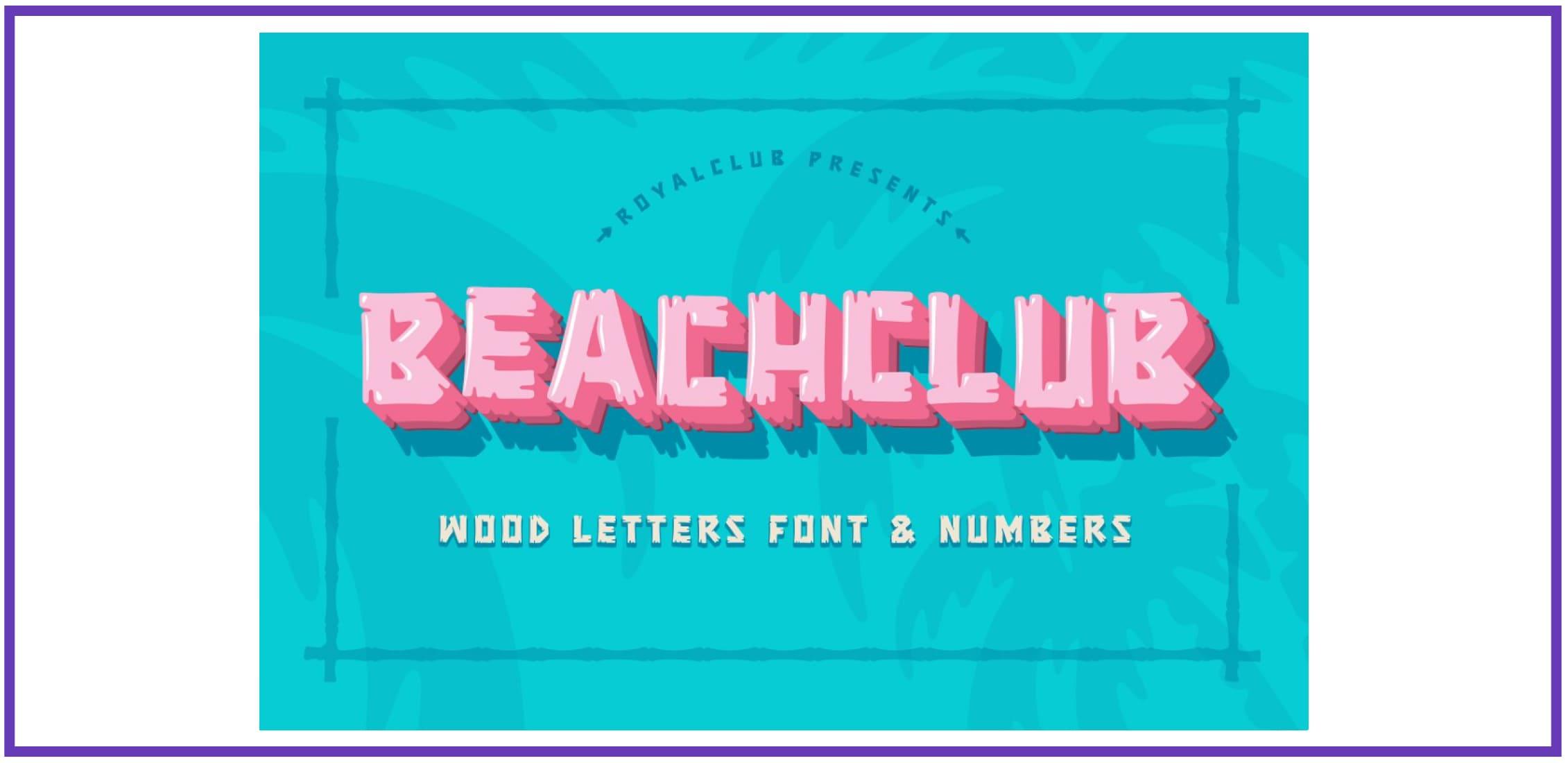 BEACHCLUB FONT By ROYALCLUB. Best Beachy Fonts.