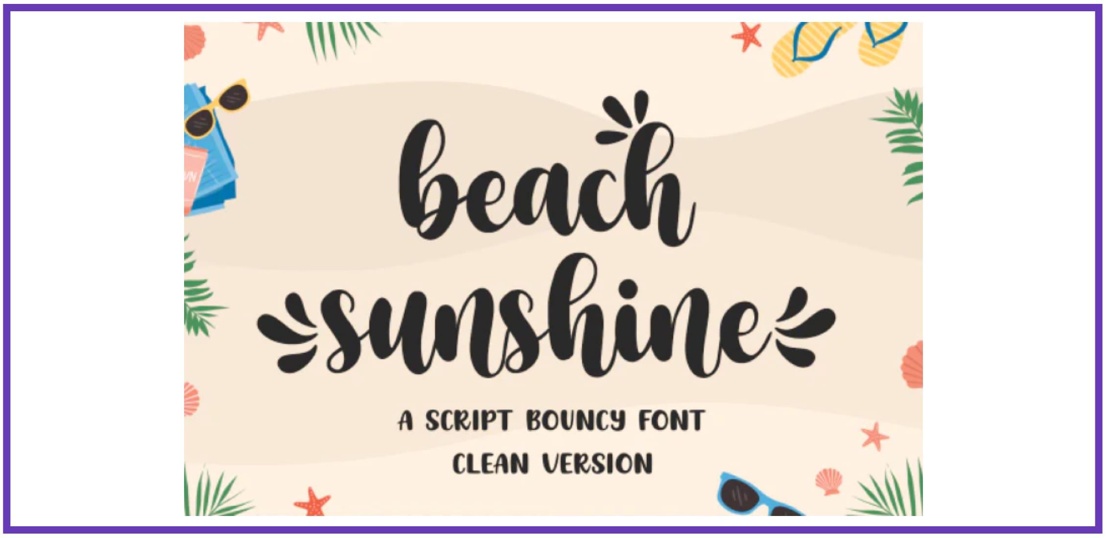 Beach Sunshine. Best Beachy Fonts.