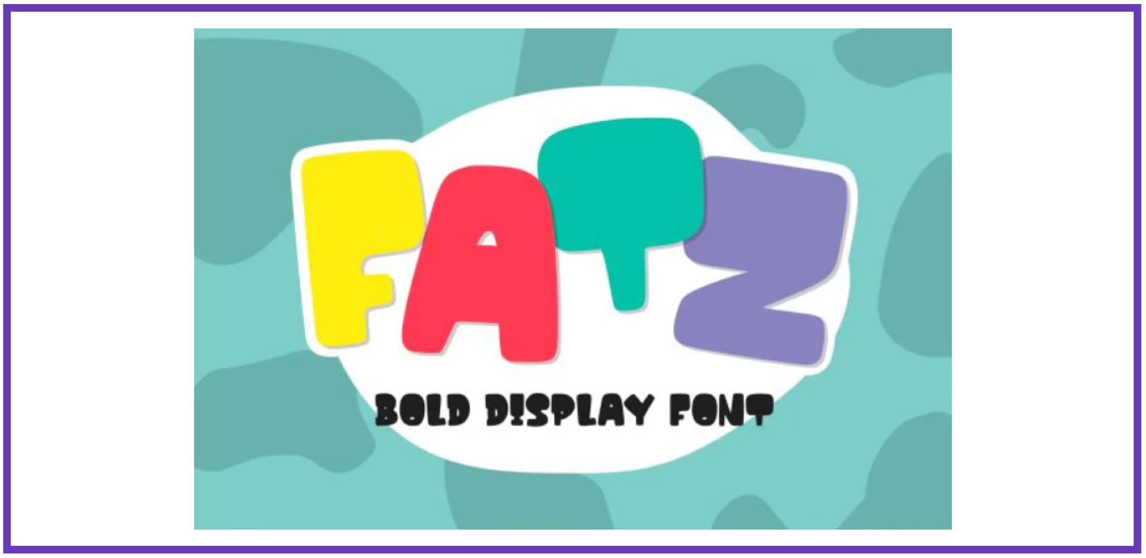 Fatz. Best Beachy Fonts.